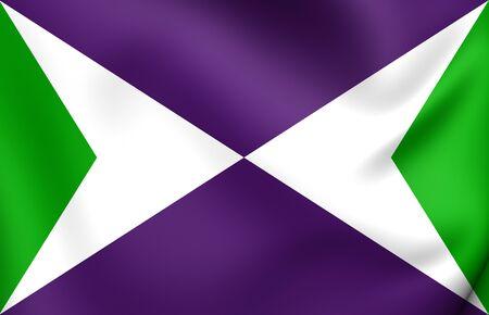 puertorico: Flag of Yabucoa, Puerto Rico. Close Up.