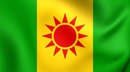 unofficial: Unofficial Flag of Zazaistan. Close Up.