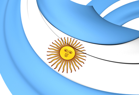 argentinean: Flag of Argentina. Close Up.
