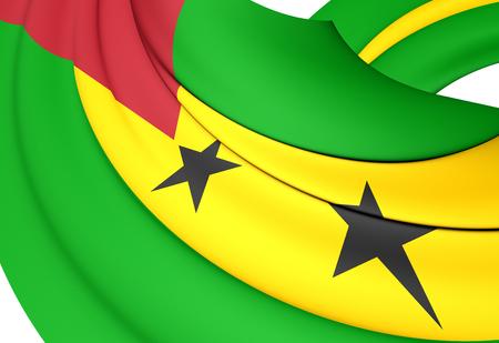 principe: Bandera de Santo Tom� y Pr�ncipe. De Cerca. Foto de archivo