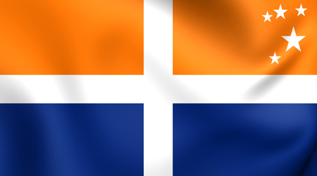 isles: Isles of Scilly Flag. Close Up.