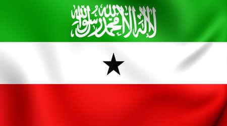 somaliland: Flag of Somaliland. Close Up.