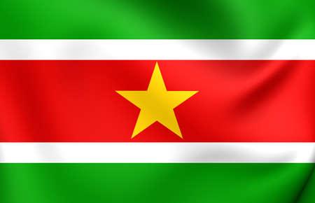 suriname: Flag of Suriname. Close Up.