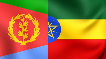 Flag of Tigrinya Sprache. Nahaufnahme. Standard-Bild - 36287964