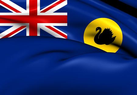 western australia: Flag of Western Australia. Close Up.