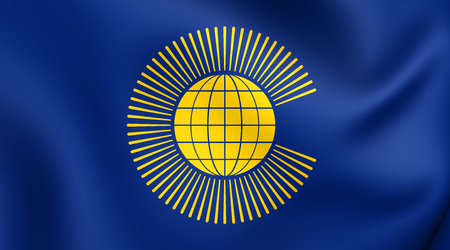 nations: Commonwealth of Nations Flag. Close Up. Stock Photo