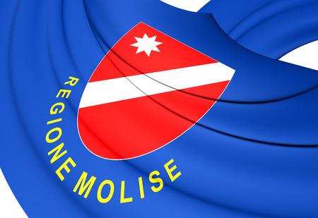 molise: Flag of Molise, Italy. Close Up.