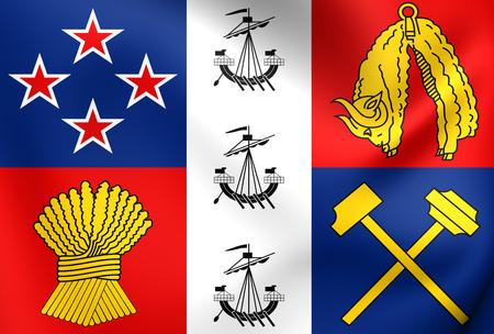 coronation: Coronation Standard of New Zealand. Close Up.