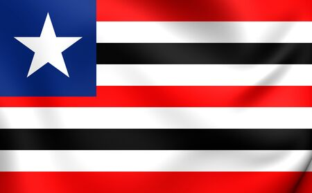 flutter: Flag of Maranhao, Brazil. Close Up. Stock Photo