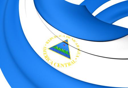 Flag of Nicaragua. Close Up. photo