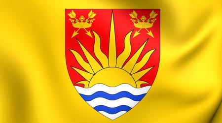suffolk: Flag of Suffolk, England. Close Up. Stock Photo