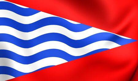 municipality: Flag of Adrados, Spain. Close Up.