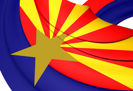 flutter: Flag of Arizona, USA. Close Up.