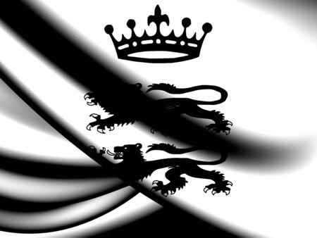 berkshire: Flag of Berkshire County, England. Close Up.