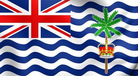 indian ocean: Flag of British Indian Ocean Territory. Close Up. Stock Photo