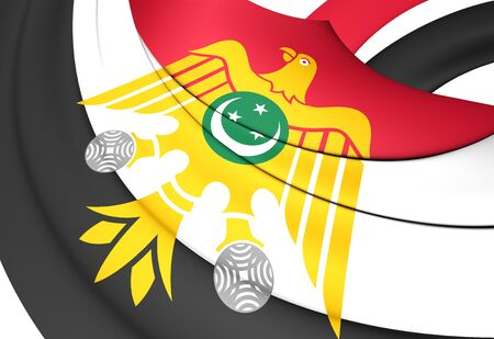 liberation: Flag of Egypt (1952-1958). Close Up.