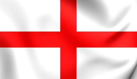 flutter: Flag of England. Close Up.