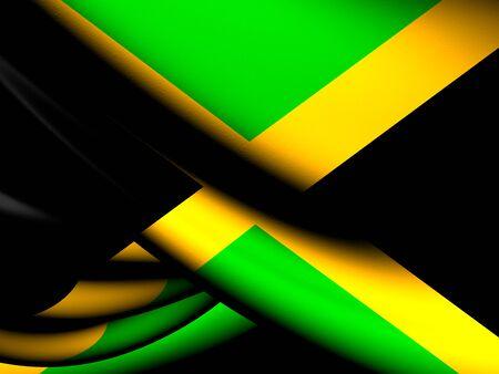 Flag of Jamaica. Close Up. photo