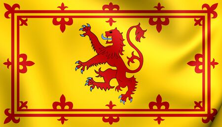 scots: Royal Standard of Scotland. Close Up.