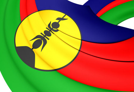 collectivity: Flag of New Caledonia. Close Up.