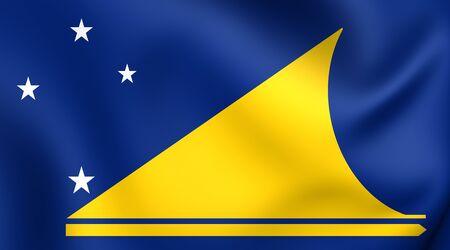 atoll: Flag of Tokelau. Close Up. Stock Photo