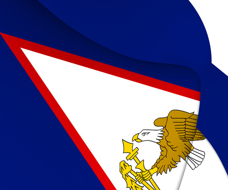 samoa: Flag of American Samoa. Close Up.