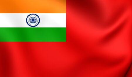 ensign: Civil Ensign of India. Close Up. Stock Photo