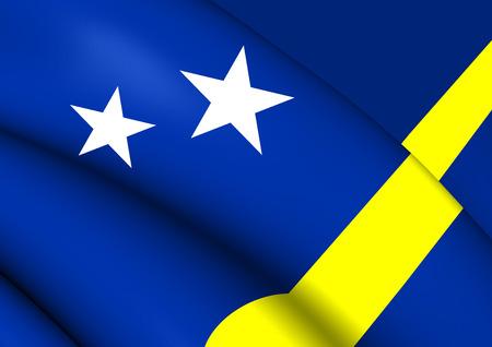 curacao: Flag of Curacao. Close Up.