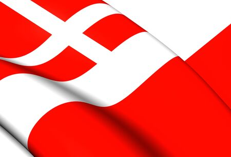 utrecht: Flag of Utrecht, Netherlands. Close Up.