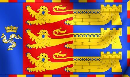 Flag of Lord Warden of the Cinque Ports. Close Up.