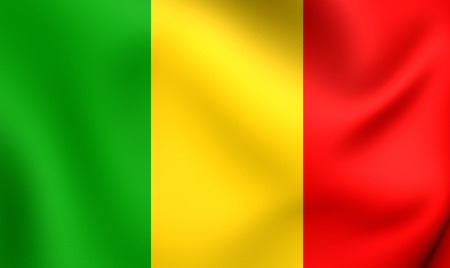Flag of Mali. Close Up. photo
