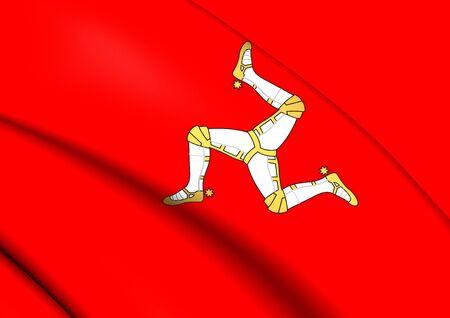 man close up: Isle of Man Flag. Close Up.