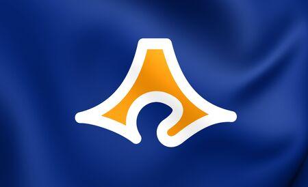 prefecture: Flag of Shizuoka Prefecture, Japan. Close Up.