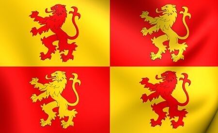 Sons of Glyndwr Flag. Close Up.