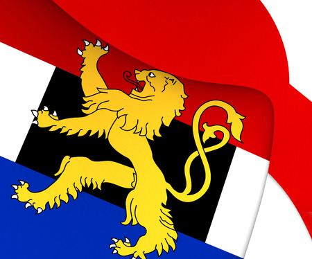 benelux: Flag of Benelux. Close Up.