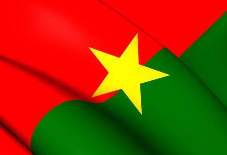 burkina faso: Flag of Burkina Faso. Close Up.