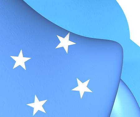micronesia: Flag of Micronesia. Close Up.