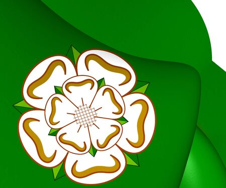 yorkshire: Flag of North Yorkshire, England. Close Up.