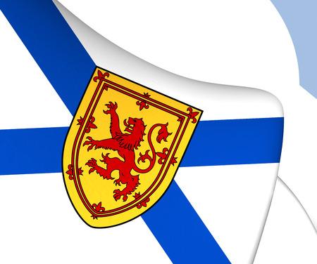 nova: Flag of Nova Scotia, Canada. Close Up. Stock Photo
