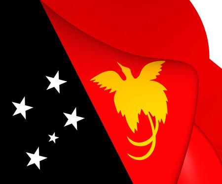 guinea: Flag of Papua New Guinea. Close Up.