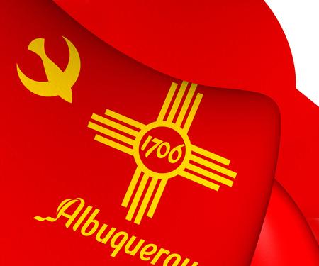 albuquerque: Flag of Albuquerque, USA. Close Up.