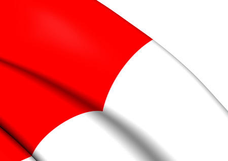 bilbo: Flag of Bilbao, Spain. Close Up.