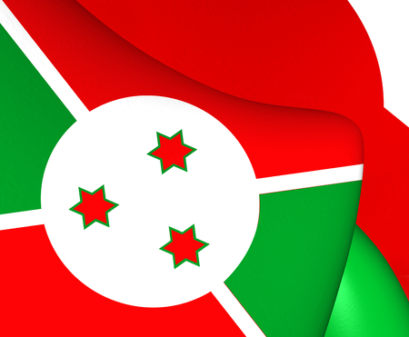 burundi: Flag of Burundi. Close Up.