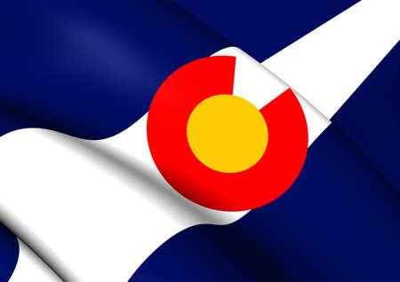 colorado flag: Flag of Colorado, USA. Close Up.