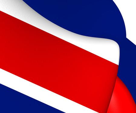 caribbean sea: Flag of Costa Rica. Close Up.