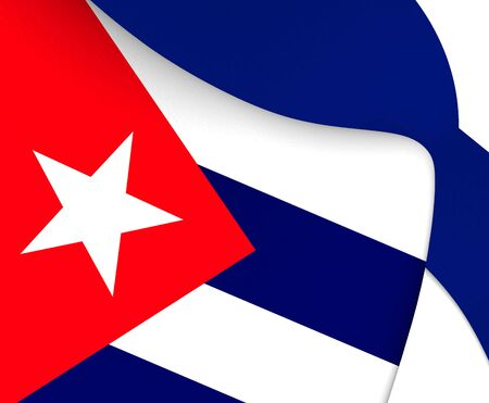 flutter: Flag of Cuba. Close Up.