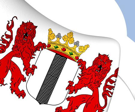delft: Delft Coat of Arms, Netherlands. Close Up.