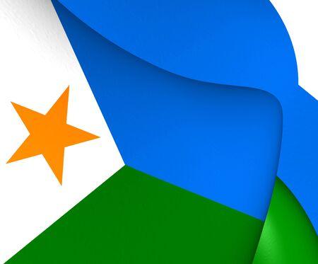 djibouti: Flag of Djibouti. Close Up.