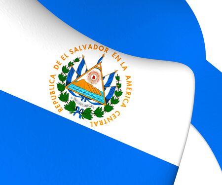 el salvador: Flag of El Salvador. Close Up.