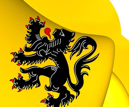flanders: Flag of Flanders. Close Up.